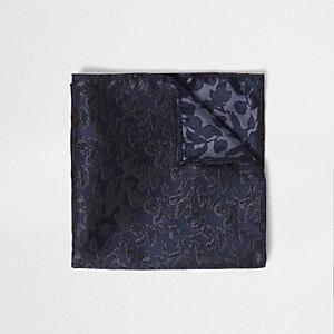 Marineblauwe gebloemde pochet
