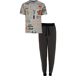 Grey Star Wars print loungewear set