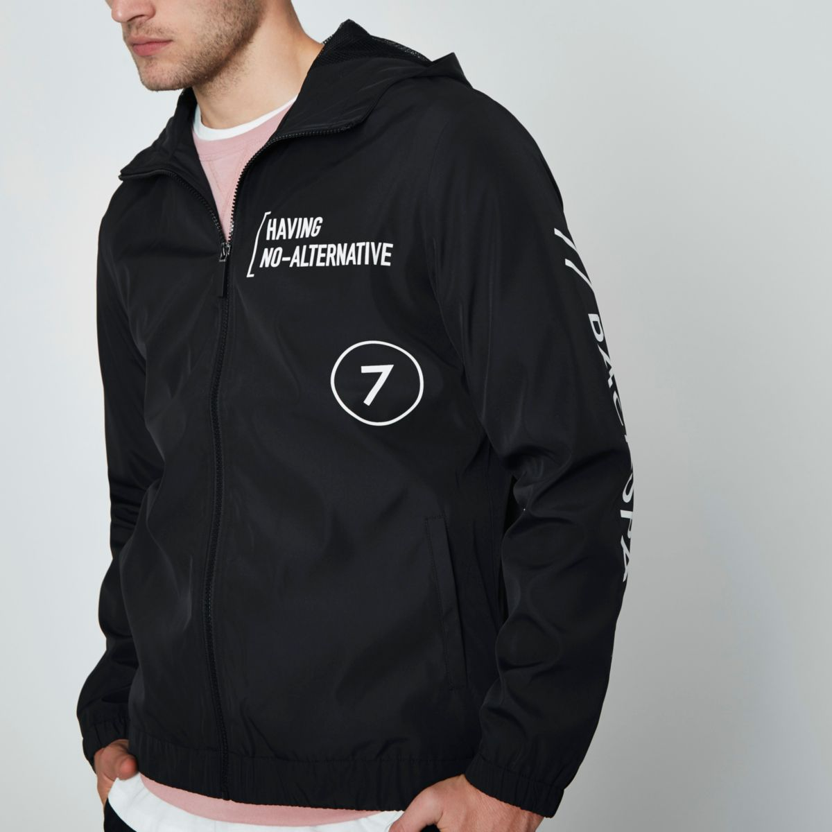 "Only & Sons – Schwarze Jacke ""No Alternative"""