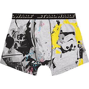 Grijze strakke boxer met Star Wars-print