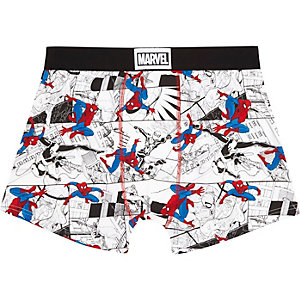 White Spiderman trunks