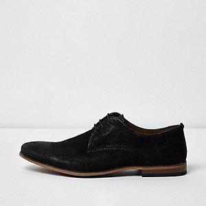 Schwarze, elegante Schnürschuhe aus Leder