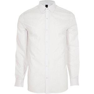 Chemise habillée blanche à manches longues