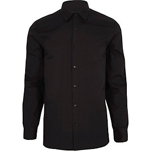Black long sleeve smart shirt