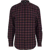 Big and Tall red check long sleeve shirt