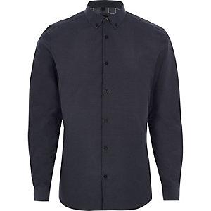 Big & Tall – Chemise à carreaux bleue boutonnée