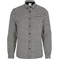 Big and Tall black gingham check shirt
