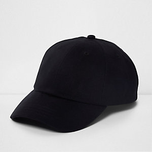 Black twill baseball cap