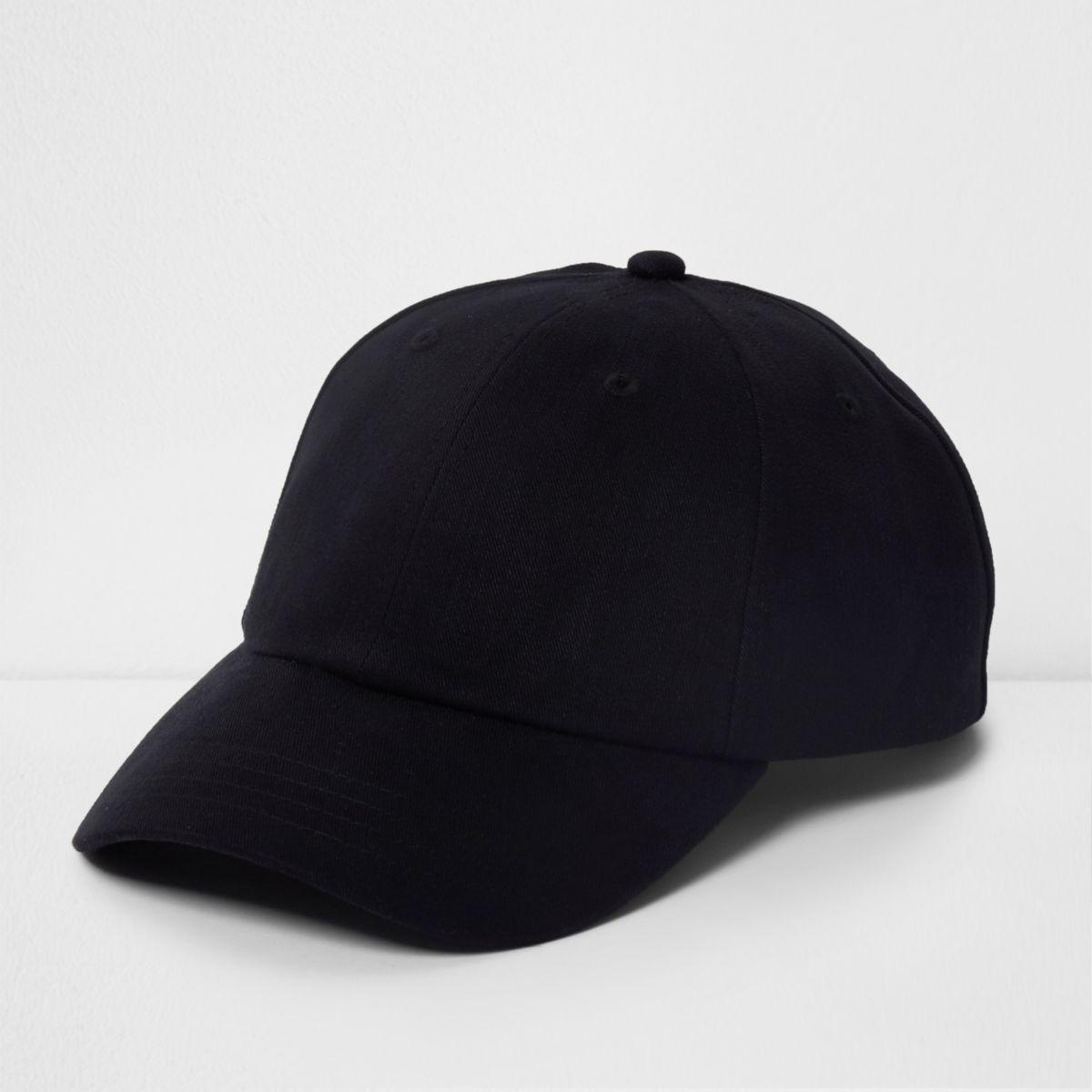 Black soft twill baseball cap