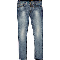 Mid blue Danny faded super skinny jeans