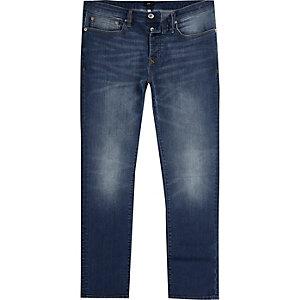 Dylan – Mittelblaue, ausgebleichte Slim Jeans