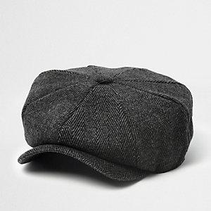Casquette style gavroche à chevrons grise pour garçon