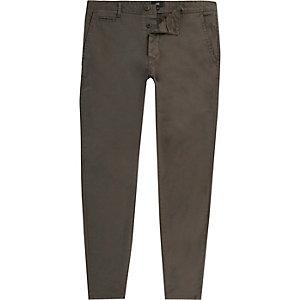 Pantalon chino super skinny gris foncé