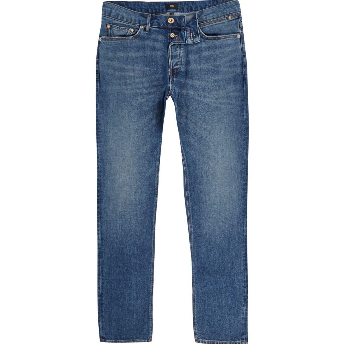 Mid blue Sid skinny jeans