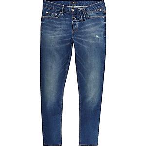 Sid - Donkerblauwe skinny jeans