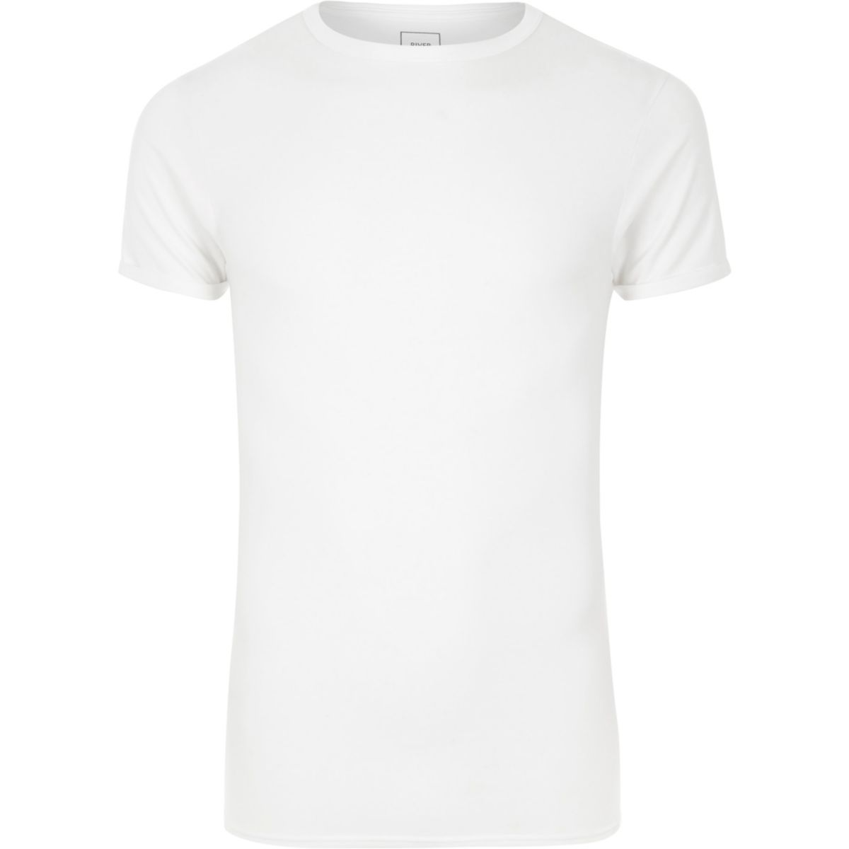 White extreme muscle fit T-shirt