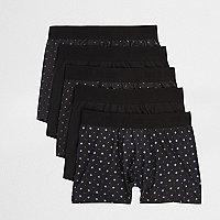Lot de boxers imprimé géométrique noirs