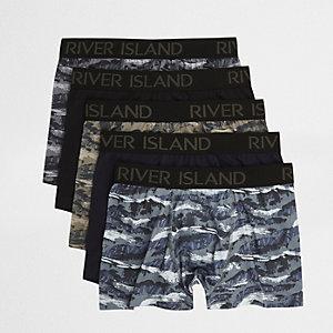 Lot de boxers à motif camouflage montagne vert foncé
