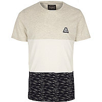 White Jack & Jones colour block T-shirt