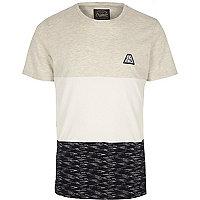 White Jack & Jones color block T-shirt