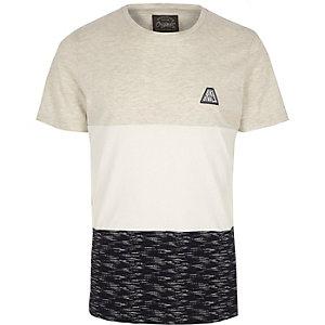 Jack & Jones - Wit T-shirt met kleurvlakken