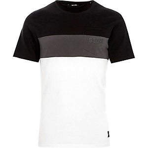 Black Only & Sons blocked T-shirt