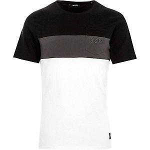 Only & Sons – T-shirt colour block noir