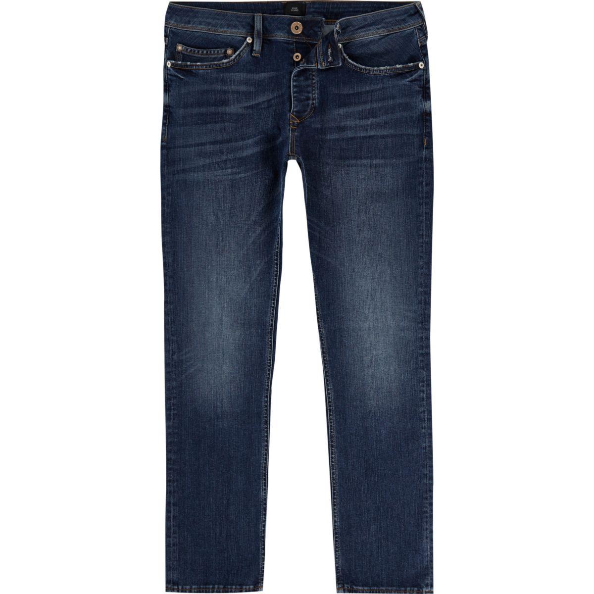 Mid blue Dylan slim fit jeans