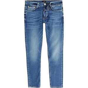 Sid - Middenblauwe vervaagde skinny jeans