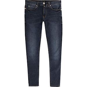 Ollie - Donkerblauwe superskinny spray-on jeans