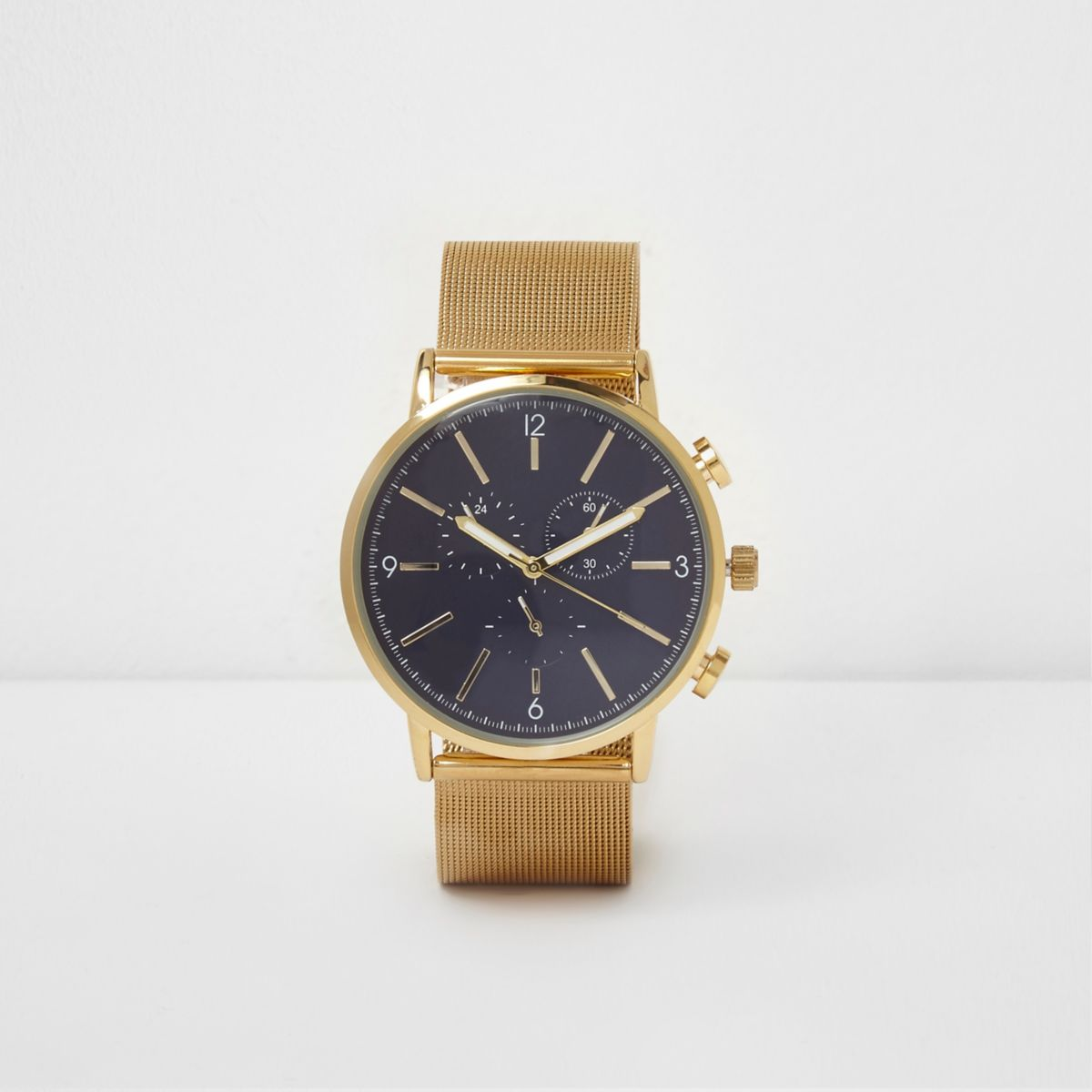 gold tone mesh watches