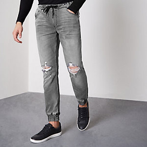 Ryan – Graue Jogging-Jeans