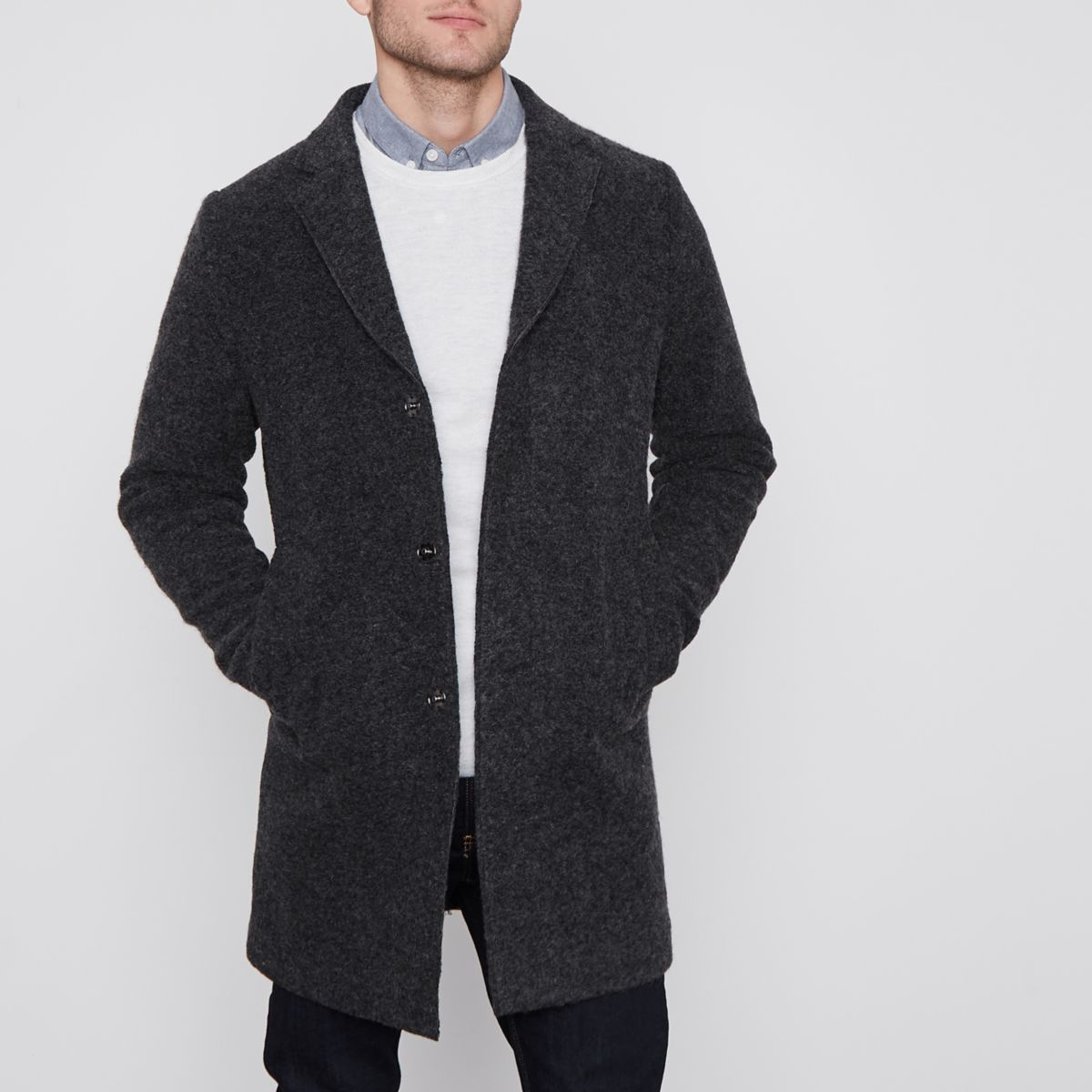 Jack & Jones Premier dark grey coat