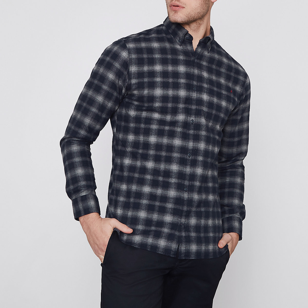 Jack & Jones Premium grey check shirt