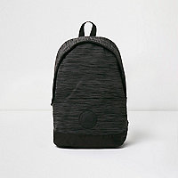 Black space dye knit backpack