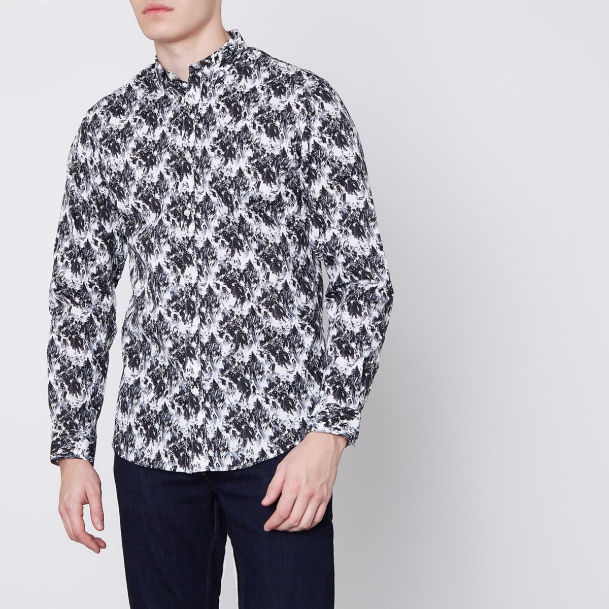 Jack & Jones Premium white abstract shirt
