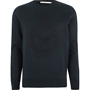 Jack & Jones Premium navy skull sweatshirt