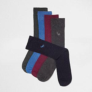 Lot de chaussettes bleu marine avec broderie cerf