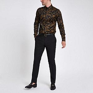 Jack & Jones Premium - Pantalon de smoking noir