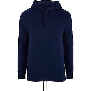 Dark purple drawstring hem hoodie
