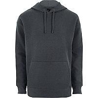 Dark grey waffle oversized hoodie