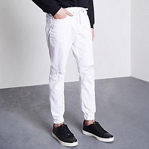 Ryan – Weiße Jeans im Used-Look