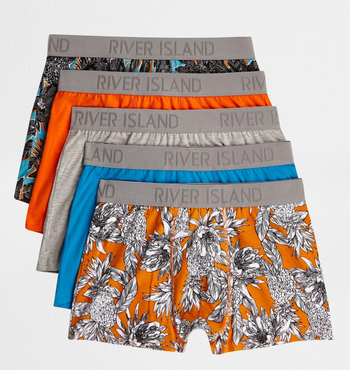 Blue pineapple print trunks multipack