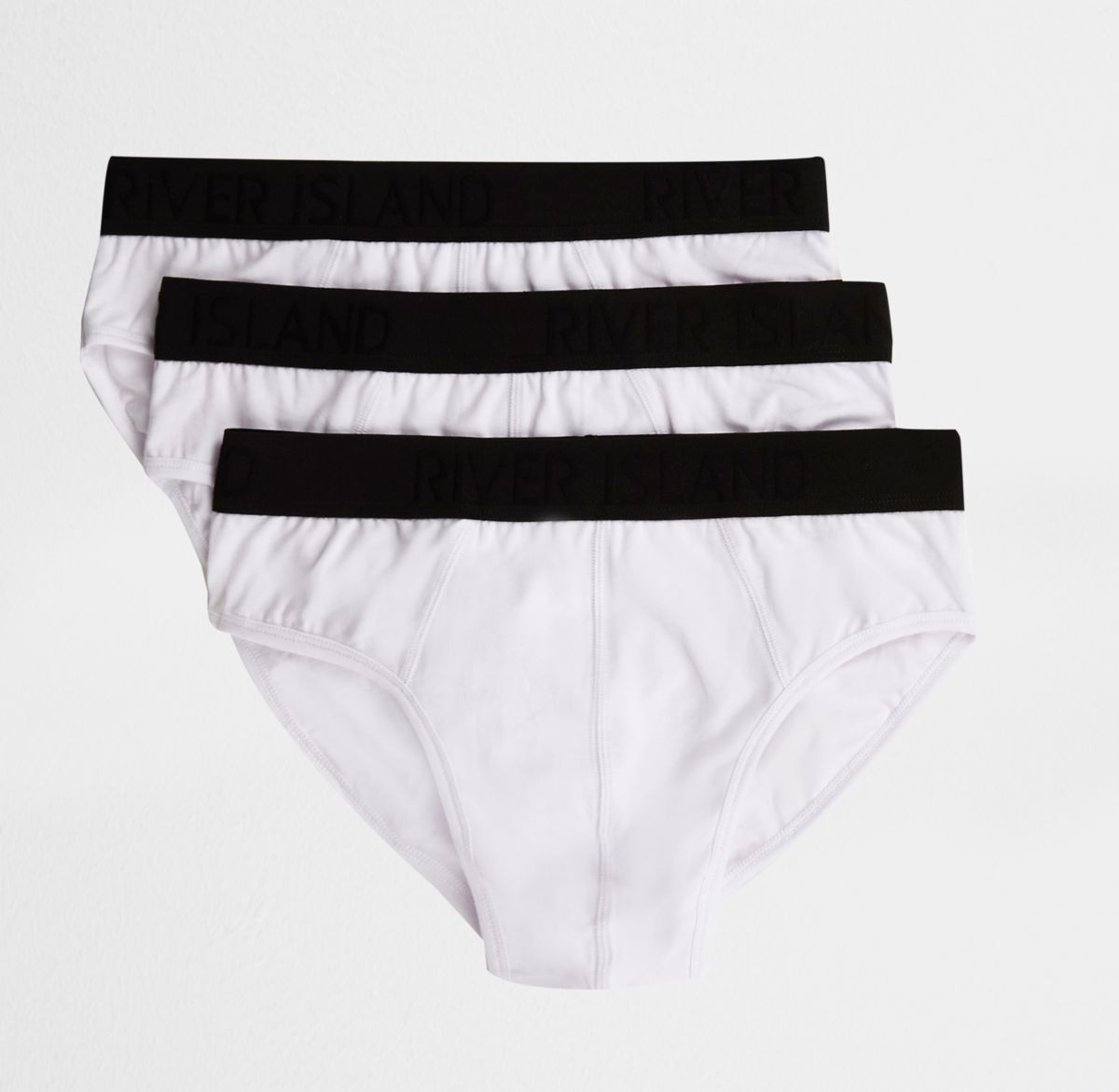 White contrast waistband briefs multipack