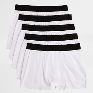 White contrast waistband trunks multipack