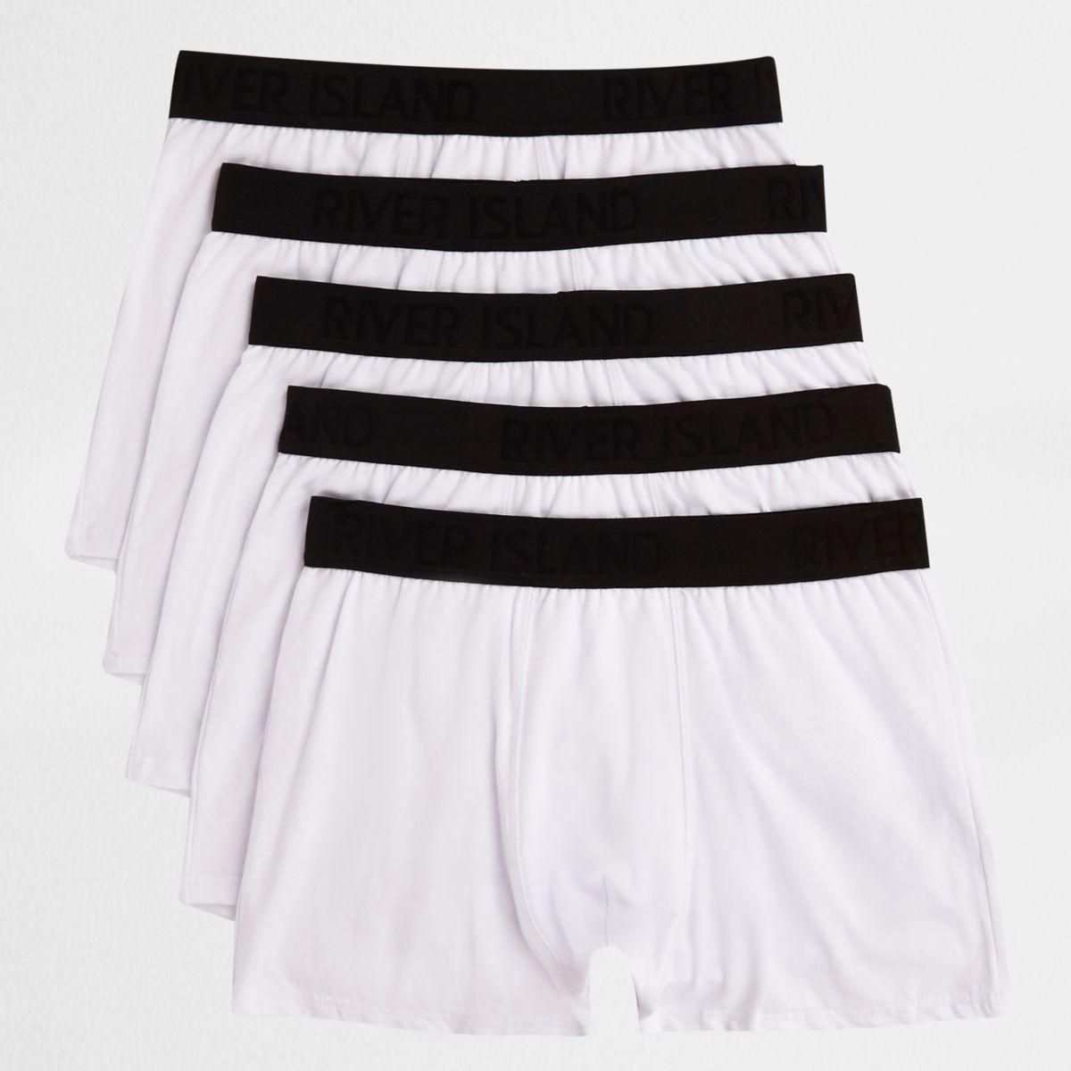White contrast waistband trunks multipack
