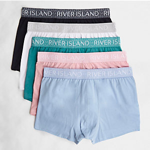 Green geo waistband hipsters multipack