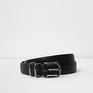 Black snake embossed belt