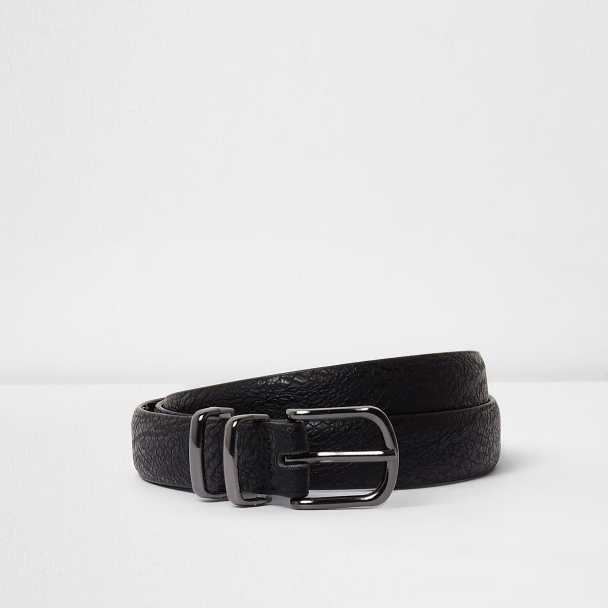 Black snake embossed belt
