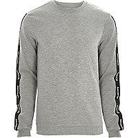 Grey marl Only & Sons printed sweatshirt